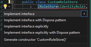 Let Visual Studio stub out your interface implementation for you